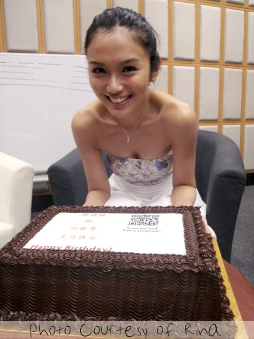 The 5kg chocolate birthday cake!