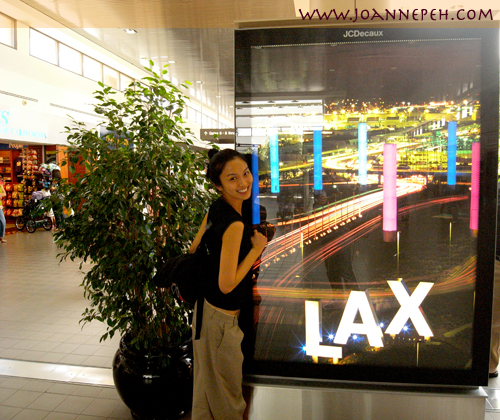 12 hours later, at LAX (Los Angeles International Airport). I was so stifled from being in the cabin but there was another domestic flight to take! LA is 15 hours behind Singapore time.