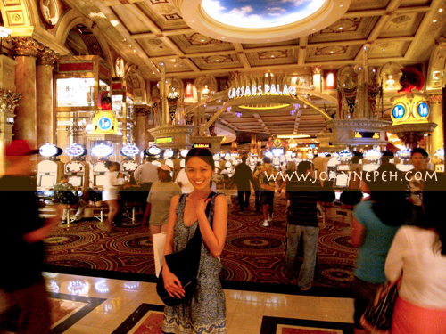 From the famous Caesar Palace in Vegas...