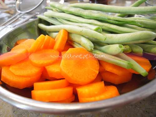 French beans and carrot