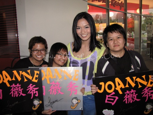 Joey, Rina and Valerie (left to right).