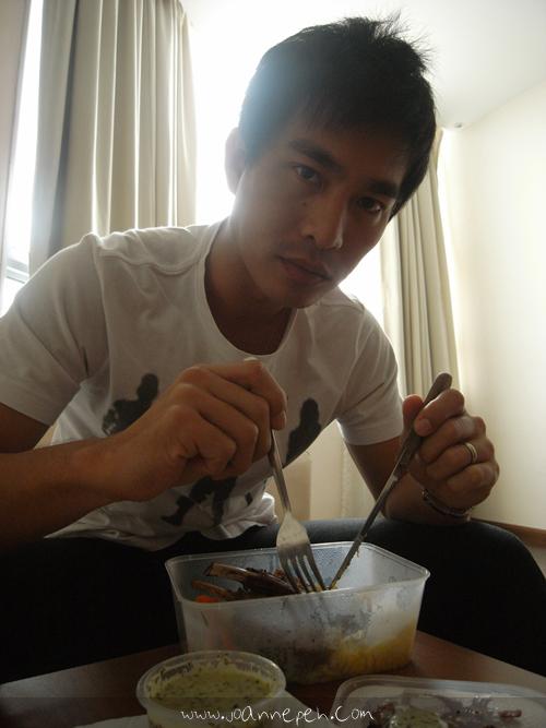 Having lunch at Krystal Suites Apartment
