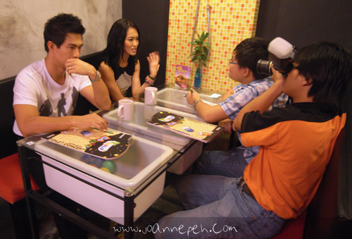 We had an interview lined up after the event and fans were following us as we made our way to this cafe. The girls even followed me into the restroom, which was a first for me. I do appreciate the support but it was a bit awkward. Haha! Here we are finally settled down for the interview with the local paper.