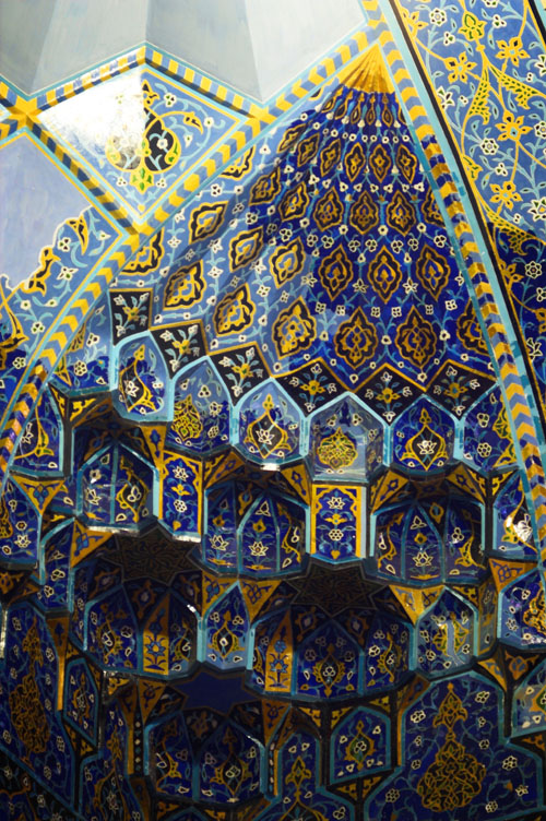 The tiles from the Blue Mosque. I love the shades of blue, it reminds me of a Mediterranean holiday!
